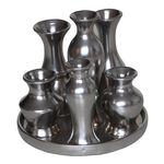 Set 6 vaze argintiu mat 1