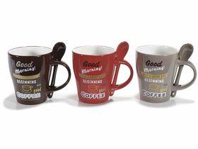 Cana cafea ceramica cu lingurita 1