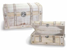 Set 2 cutii epoca vechi din lemn 1