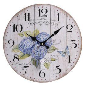 Ceas floral perete din lemn 1